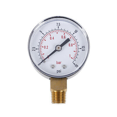 Low pressure gauge for fuel air oil gas water 50mm 0-15 PSI 0-1 bar 1/4 BSPT FG
