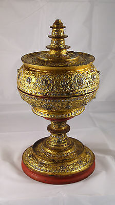"Antique Burmese offering vessel ""Hsun Ok"" late 19th century - gold 24 carats."