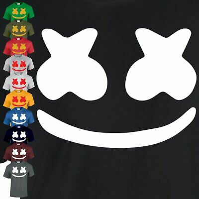 Marshmello Adult Mask Dance Tee Edm Inspired tshirt Casual Game Top Dj Music