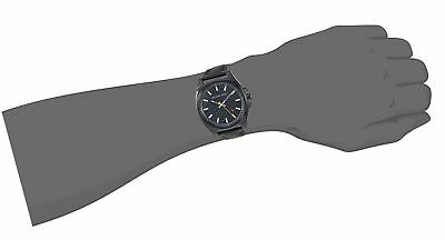 58a653659ff2 NEW MENS MICHAEL Kors Bryson Blk Leather Straps 3 Hand Watch Mk8632 ...