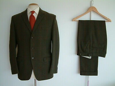 """TWEED SUIT..38"""" x 32""""..MADE IN ENGLAND..HEAVYWEIGHT CLOTH..DATED 22-2-1968..MTM"""