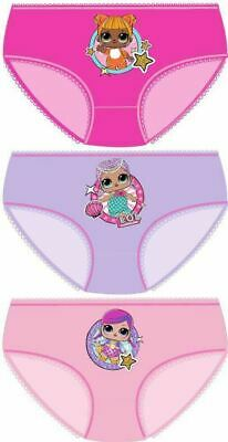 Girls LOL Surprise Briefs Pants Knickers Underwear 3 pk