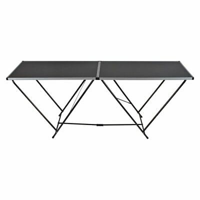 New 2m Steel Portable Folding Table Picnic Camping Work Lightweight