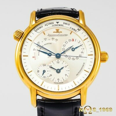 Jaeger  Lecoultre   Master  Geographic Dual Time  Ref 169.1.92  18K Gold   B&p