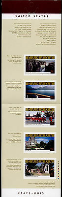 Canada 1989 Booklet BK270b MNH Tourist Attractions, RCMP Parade, Architecture