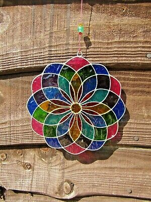 Hand Made Stained Resin Dragonfly Suncatcher Sun Catcher Window Wind Chime