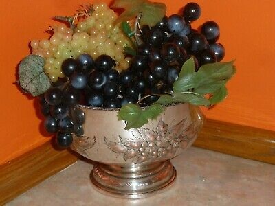 Vintage Cheltenham Silver On Copper Ice Bucket Fruit Bowl Old Centre Piece S6