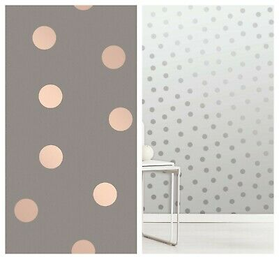 Crown Starlight Spots Polka Dots Wallpaper Charcoal Rose