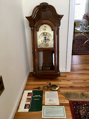 "Rare Howard Miller Signature Series Wall Clock, ""The Samuel Huntington"" #613-116"