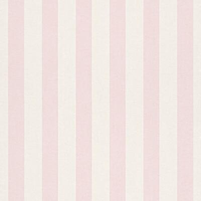 Bambino Light Pink and White Stripe Wallpaper by Rasch 246018