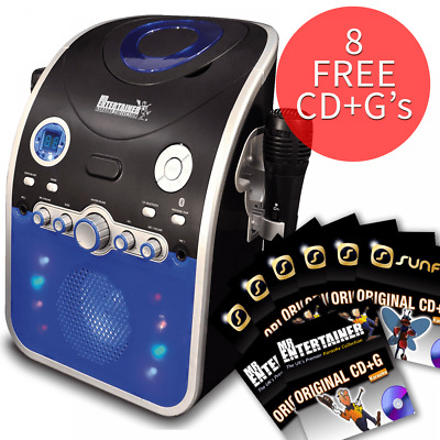 Karaoke Machine with Bluetooth CD CDG Discs Party Package Disco Light 131 Songs