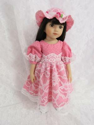 "Lace Dress and Hat Clothes for 13"" Dianna Effner Little Darling"