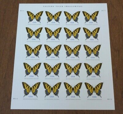 US Stamps Sheet Eastern Tiger Swallowtail butterflies Non machinable surcharge