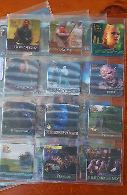Lord of the Rings Action Flipz, 2002 Complets Set Of 60 Cards