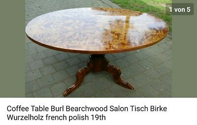Sofa Tisch Historismus Birke Salon Table 19th Century Bearchwood