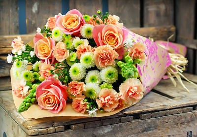FRESH FLOWERS Delivered Bouquet Free gift message mothers day Delivery birthday