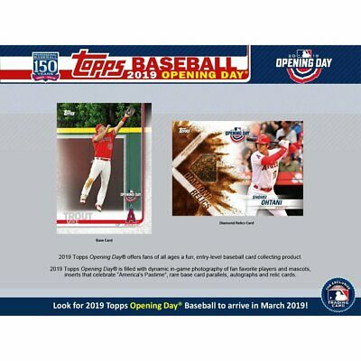 2019 Topps Opening Day Baseball Factory Sealed Hobby Box (Pre-sale 03/13)