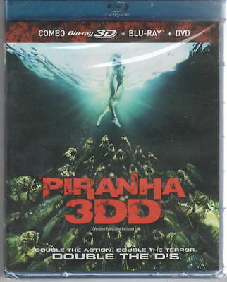Piranha 3DD Blu ray DVD Combo Pak . Included 3D and 2D Blu ray