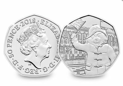 2018 PADDINGTON BEAR AT BUCKINGHAM PALACE 50p COIN FIFTY PENCE FROM SEALED BAGS