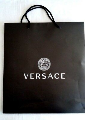 VERSACE BAG SHOPPING PAPER EMPTY NEW gift wrap supply LUXURY GIFT ... e7cc4e1c93be4
