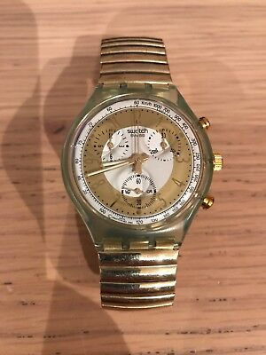 Swatch Chrono SCG100 Golden Globe Watch 1993