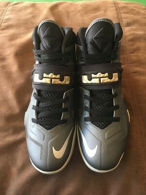 5fe03445c92 Nike Lebron James Zoom Soldier Vii 7 Shoes Dark Wolf Gray Black Men S Size  10.5