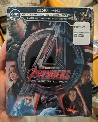 Avengers Age of Ultron Best Buy Exclusive Steelbook (Blu-ray + 4K UHD) BRAND NEW