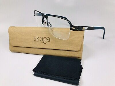 ff05e1ac782 New SKAGA 2535-U Gunmetal   Teal Titanium NIIA Eyeglasses 54mm with Case
