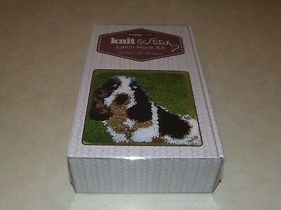 Hobby Craft Knit & Stitch Latch Hook Kit - Spaniel - New
