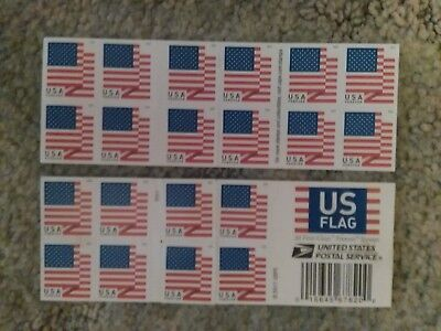 NEW USPS FOREVER Postage Stamps of 'US FLAGS z' BOOKLET/ STRIP-20 ct.-FREE SHIP!