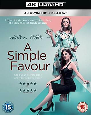 A Simple Favour [Blu-ray] [2018] [DVD][Region 2]