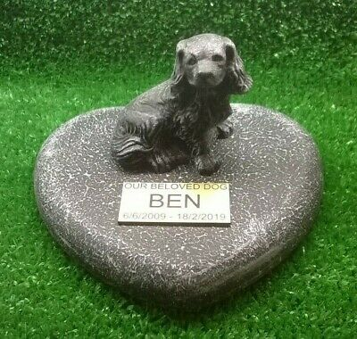 Dog Large Pet Memorial/headstone/stone/grave marker/memorial with plaque sd