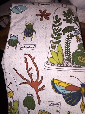 Danica Studio Shower Curtain Botanical Mushrooms Feathers Moths SUPER