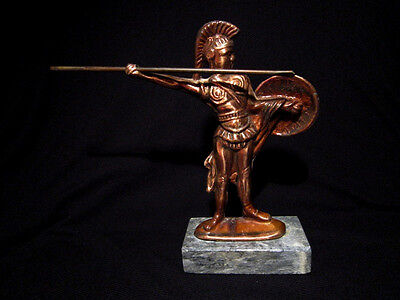 Attractive Vintage Copper Figurine, Greek Warrior!!!