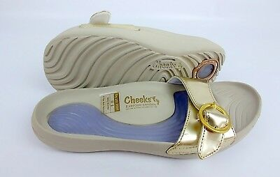 b91418c85d0ed Tony Little Cheeks Exercise Sandals with Adjustable Strap Gold Size 11
