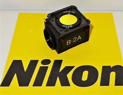 Nikon B-2A Fluorescent Microscope Filter Cube for Labophot, Optiphot, Microphot