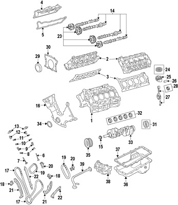 Genuine Ford Cylinder Head Assembly Jl3z 6049 G