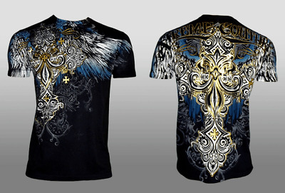 XTREME COUTURE by AFFLICTION Men T-Shirt ENSIGN Biker MMA UFC S-4X $40