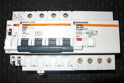 DISJONCTEUR DIFFERENTIEL 32A 300mA TRIPHASE +N, MERLIN GERIN, CONTACT AUX. OF+SD