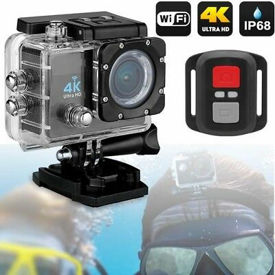 Pro Cam 4K Sport Action Wifi Dv Camera Ultra Hd 16 Mp Camcorder Diving 30 Mt