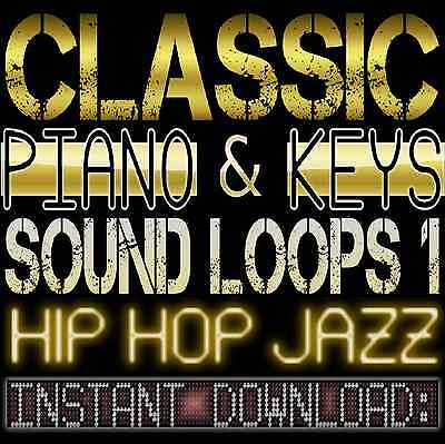 PIANO,KEYS,RHODES,SOUNDS WAV LOOP SAMPLES 1 Hip Hop Jazz Akai Reason Fl Studio