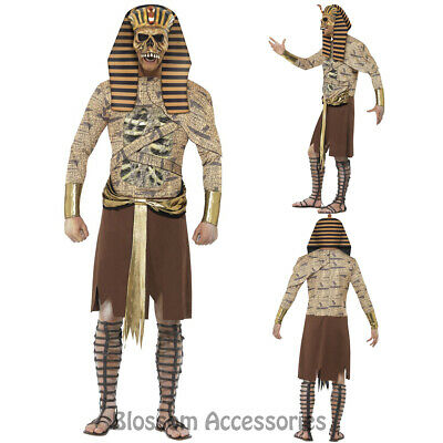 CL900 Zombie Pharaoh Egyptian Mummy Ancient Mens Horror King Tut Fancy Costume