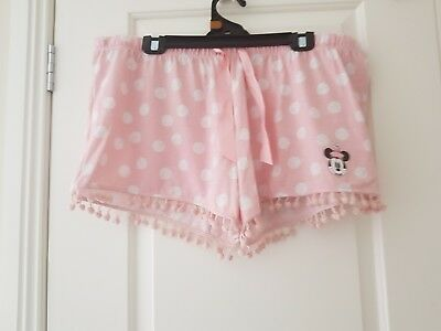 Disney Target Minnie Mouse Womens Sleep Shorts Size 18-20