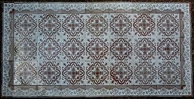 Antique Witteburg Germany - Victorian Majolica 45 Tile Set C1900