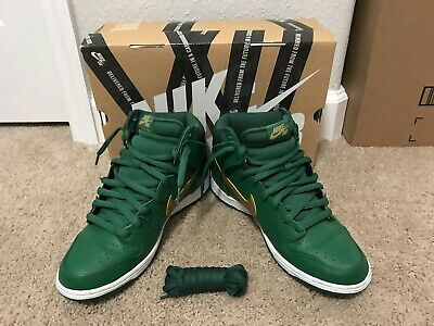 100% authentic fbd3d 04770 Nike Dunk High Pro SB VNDS GreenGold St. Patricks Day ~ mens size