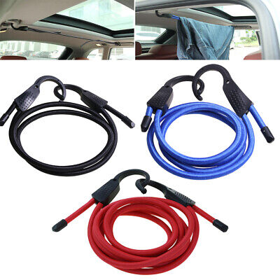 Universal Hook Interior Plastic Car Strap Baggage Rope Tent Cord Elastic Bungee