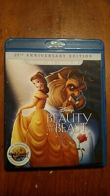 Disney Beauty And The Beast 25Th Anniversary Blu-Ray And Dvd Combo Movie