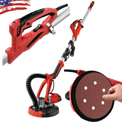 750W Stretchable Drywall Electric Variable Speed Sanding Pad w/LED Light Durable