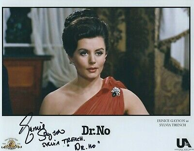 EUNICE GAYSON SIGNED 007 JAMES BOND  8x10 PHOTO 2 - UACC & AFTAL RD AUTOGRAPH