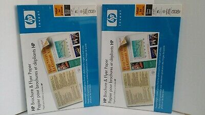 LOT OF 2 HP Brochure & Flyer Paper, Glossy (50 Sheets, 11